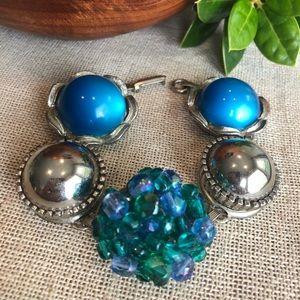 VTG Bracelet Made from Vintage Earrings/Buttons
